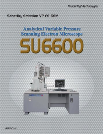 SU6600 brochure - Hitachi High-Technologies Europe