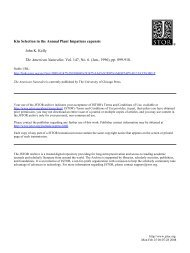 Kin Selection in the Annual Plant Impatiens capensis John K. Kelly ...