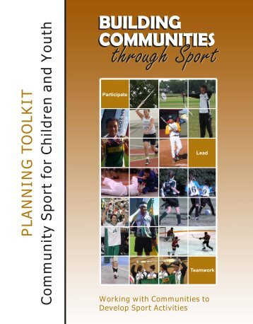 Planning Community Sport - A Workbook for ... - Sask Sport Inc.