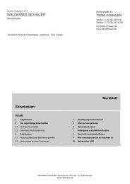 Merkblatt Reisekosten - Steuerberater Waldemar Schauer