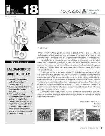 LABORATORIO DE ARQUITECTURA 2 - Facultad Mexicana de ...