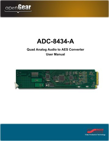 ADC-8434-A User Manual - Ross Video