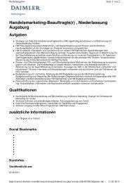 Handelsmarketing-Beauftragte(r) , Niederlassung Augsburg Aufgaben