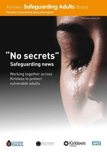 Safeguarding newsletter issue 3 March 2011 - NHS Kirklees