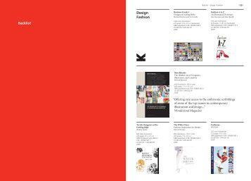 Design Fashion Backlist - Raincoast Books