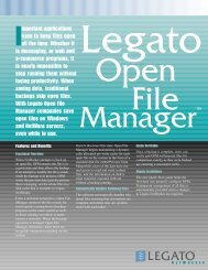 NetWorker Open File Manager - A Matter of Fax