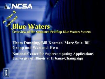 Blue Waters - Oklahoma Supercomputing Symposium 2012