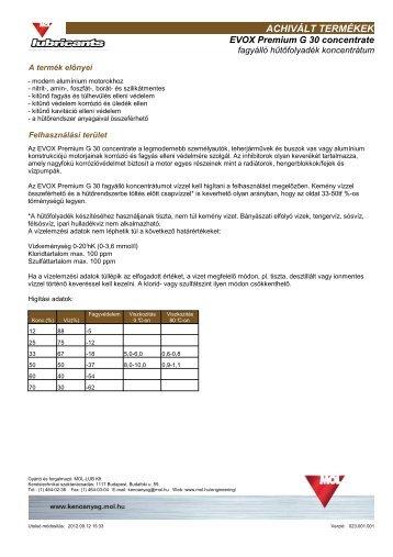 EVOX Premium G 30 concentrate (pdf, 77 kB) - Mol