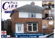 Sales details 45 Kilburn Rd - Paul Carr Estate Agents