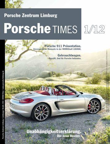 Ausgabe 1/12 - Porsche Zentrum Limburg
