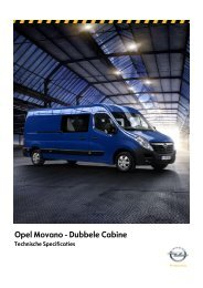 Opel Movano - Dubbele Cabine
