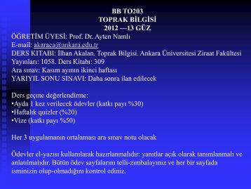 Ana Materyal - Ziraat Fakültesi - Ankara Üniversitesi
