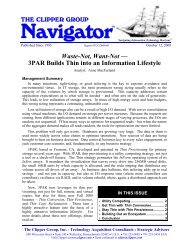 3PAR Builds Thin into an Information Lifestyle - The Clipper Group