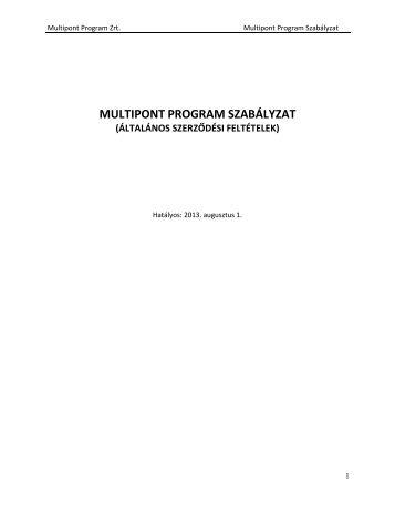 Multipont ÁSZF (pdf, 470 kB) - Mol
