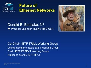 Future of Ethernet Networks - Ethernet Technology Summit