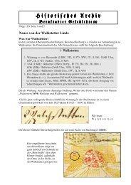 Neues von der Walkstetter Linde - Bernstadt
