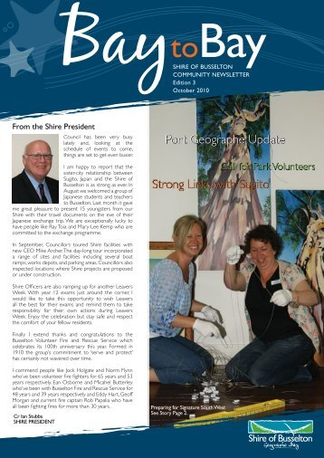 Strong Links with Sugito Port Geographe Update - City of Busselton