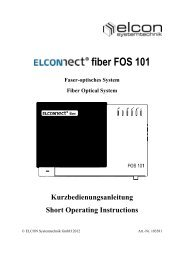 FOS 101 - Elcon Systemtechnik