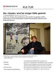 Berner Zeitung vom 26. März 2013 - Pedro Lenz
