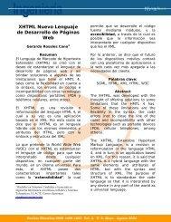XHTML Nuevo Lenguaje de Desarrollo de Páginas Web - Ulacit
