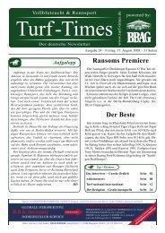 Ransoms Premiere Der Beste - Turf-Times Deutschland