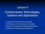 Context-Aware Technologies, Systems and Applications