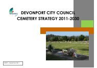 devonport city council cemetery strategy 2011-2030