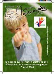 Sondernr. Kindergarten Nr. 127 2 / 2004 - Pfarre Schwertberg ...