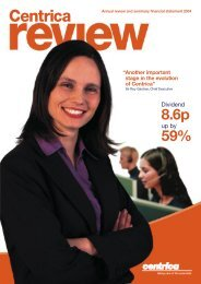 Download the 2004 Annual review PDF - Centrica