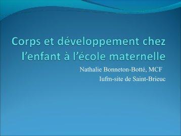 Corps et développement chez l'enfant à l'école maternelle
