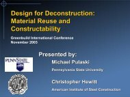 Design for Deconstruction: Material Reuse and Constructability