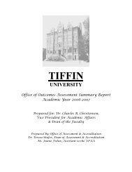 Annual Report AY 2006-2007 - Tiffin University