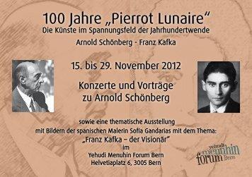 """100 Jahre """"Pierrot Lunaire"""" - Yehudi Menuhin Forum Bern"""