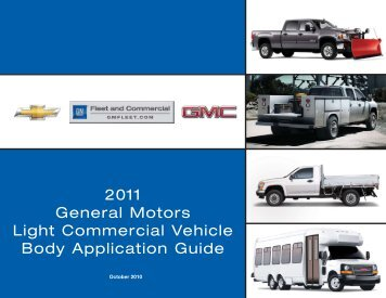2011 General Motors Light Commercial Vehicle Body ... - VinSolutions