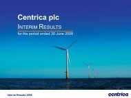 Download the 2008 Interim results Slide presentation PDF - Centrica