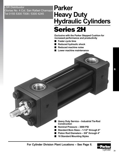 Series 2H Heavy Duty Hydraulic Cylinders - LSR Distribuidor