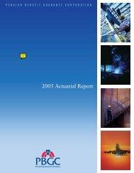 actuarial valuation report - Pension Benefit Guaranty Corporation