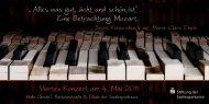 Eine Betrachtung: Mozart. Viertes Konzert am 4. Mai 2011