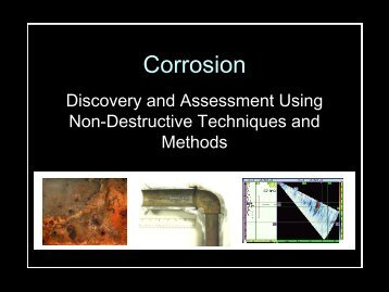 Developing Corrosion Monitoring Programs - NACE Calgary