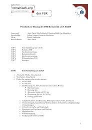 Protokoll vom 04.10.2010