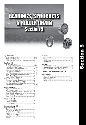 BEARINGS, SPROCKETS & ROLLER CHAIN