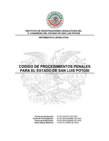 Código de Procedimientos Penales Para el Estado ... - Sgg.slp.gob.mx