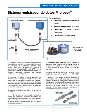 Sistema registrador de datos Microcor - Rohrback Cosasco Systems