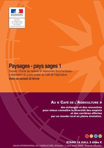 """Guide """"Paysages, pays sages"""" - Mission d'animation des ..."""