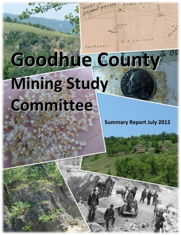Goodhue County Mining Study Committee Summary ... - Red-Wing.org