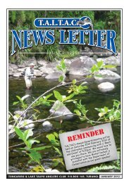 TALTAC Newsletter January 2012 - Christchurch Fishing and ...