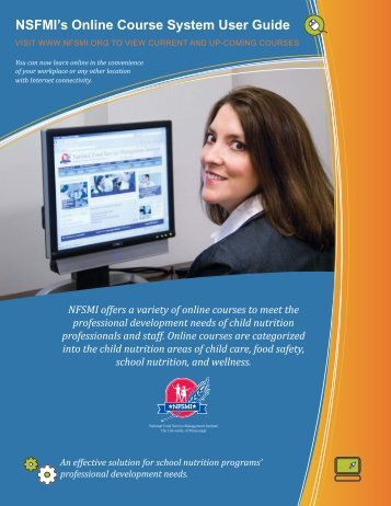 NFSMI's Online Course System User Guide - National Food Service ...