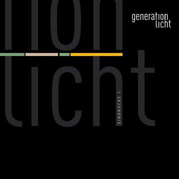 EINDRÜCKE 1 - Generation-Licht