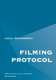 Local Government Filming Protocol, September 2000 - Division of ...