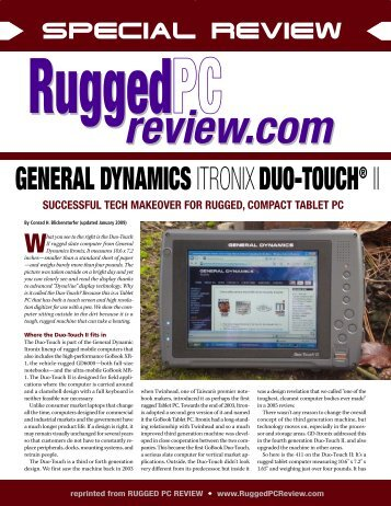 Rugged PC Review - Itronix